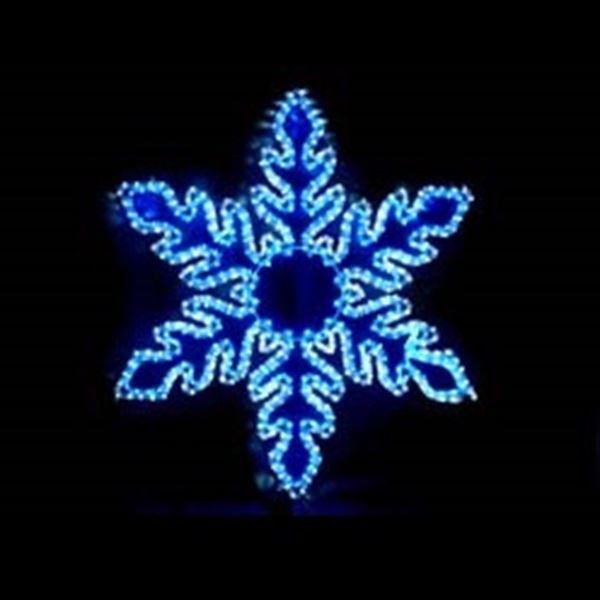 コロナ産業 LEDスノーフレーク白・青色 L2DM242 『イルミネーションライト』