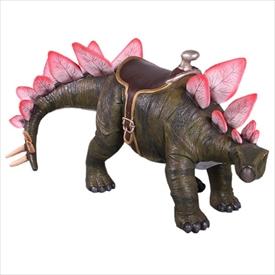 FRP 乗れるステゴサウルス / Stegosaurus 24 H 『恐竜オブジェ 博物館オブジェ 店舗・イベント向け』