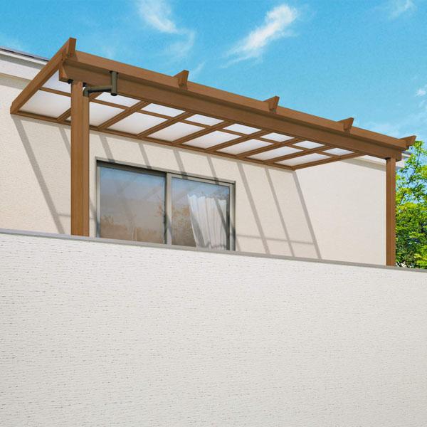 三協アルミ 2階設置型テラス ナチュレNU型 4.0間×4尺 壁付け納まり 1500タイプ 関東間 2連結 TPUB-2440C 熱線遮断ポリカ 熱線遮断ポリカ