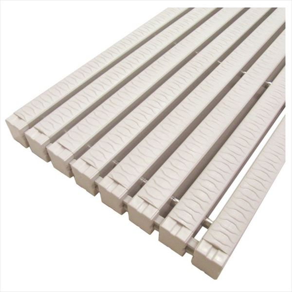 ミヅシマ工業 樹脂製グレーチング フリーハードルST-2-GM ♯150  150mm×1m×26mm 431-2400 *受け枠別途 アイボリー