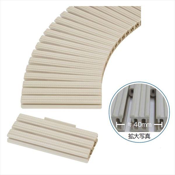 ミヅシマ工業 樹脂製グレーチング フリーハードルG ♯100~150  100~150mm×1m×26mm 431-0950 *受け枠別途 アイボリーホワイト