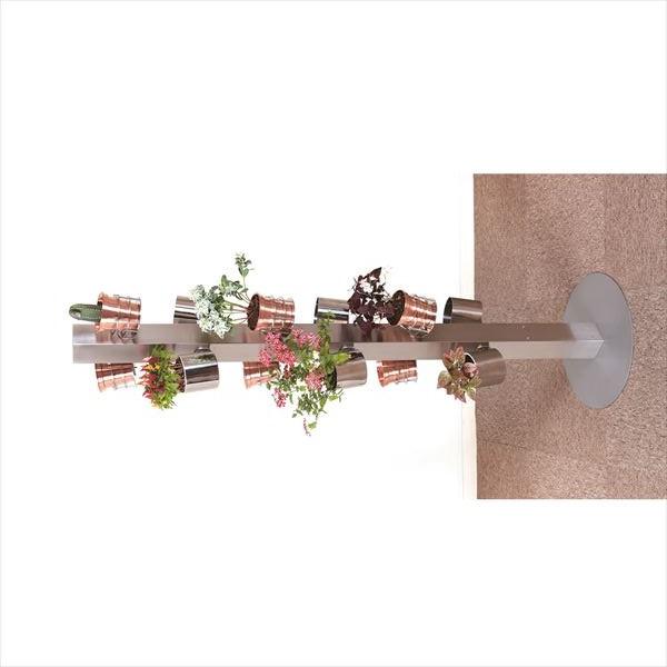 愛紳照明 San Francisco Flower #SA-24 ステンレス(SUS304)製 *鉢用台座、銅製鉢植、受け皿は別途 ステンレス