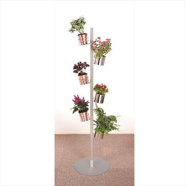 愛紳照明 San Francisco Flower #SA-22 セット2 ステンレス(SUS304)製 *鉢用台座 ×3、銅製鉢植 ×3、受け皿 ×3 セット ステンレス