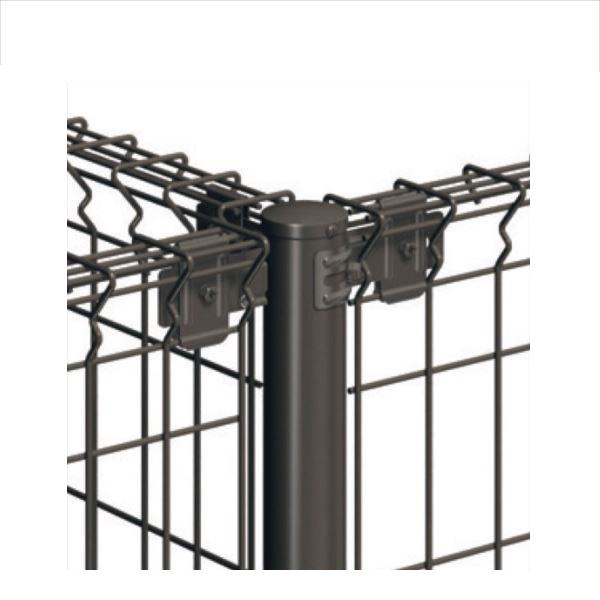 三協アルミ ユメッシュZ型 間仕切り支柱タイプ 支柱 T字用 2020 『スチールフェンス 柵』