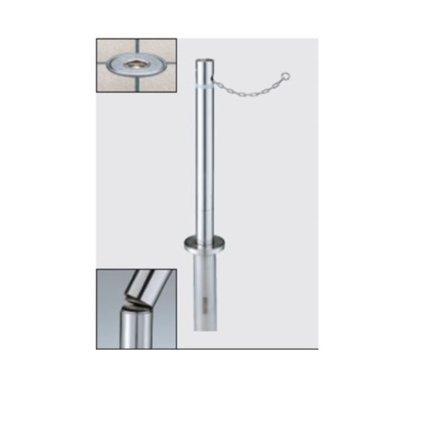 三協アルミ ビポール BNSB-48UDXN φ48mm 中間柱用 上下式スプリング内蔵 チェーン内蔵型 交換ポール(補修用)*受注生産品