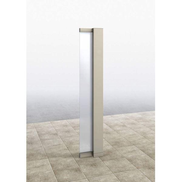 YKKAP ルシアス サインポール A01型 URC-A01 照明なし インターホン加工なし Rタイプ アルミカラー *表札はネームシールとなります 『機能門柱 機能ポール』