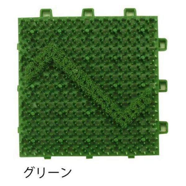 ミヅシマ工業 ブラシマットD 本体 150×150×23mm 1ケース(120ピース入) グリーン #408-0010 グリーン