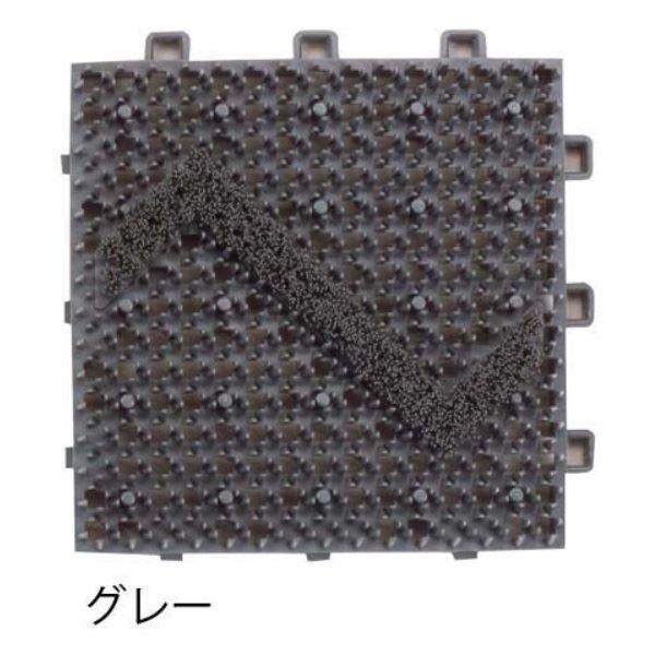 ミヅシマ工業 ブラシマットD 本体 150×150×23mm 1ケース(120ピース入) グレー #408-0020 グレー