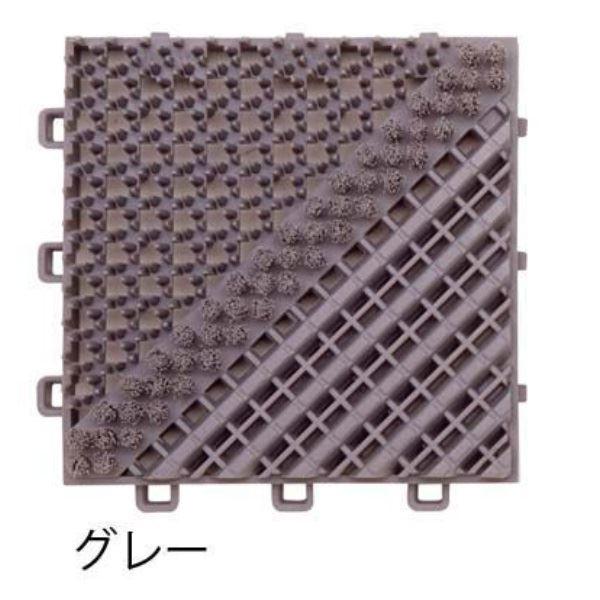ミヅシマ工業 ブラシマットA 本体 150×150×25mm 1ケース(80ピース入) グレー #402-1710 グレー