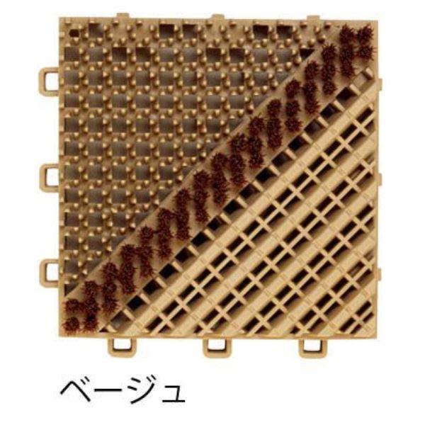 ミヅシマ工業 ブラシマットA 本体 150×150×25mm 1ケース(80ピース入) ベージュ #402-1720 ベージュ