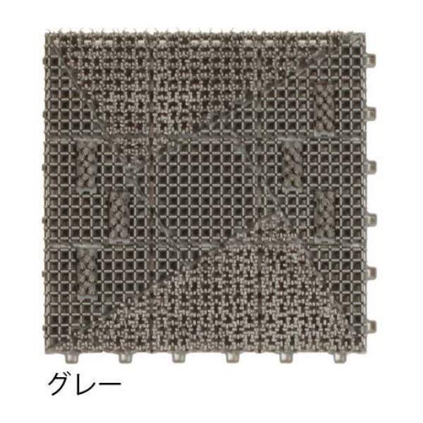 ミヅシマ工業 ブラシマットL 本体 300×300×24mm 1ケース(50ピース入) グレー #402-2010 グレー