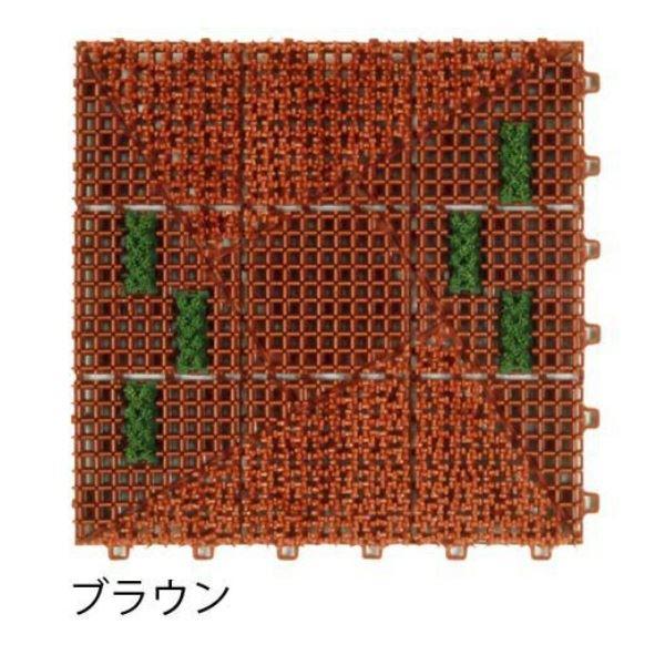 ミヅシマ工業 ブラシマットL 本体 300×300×24mm 1ケース(50ピース入) ブラウン #402-2020 ブラウン