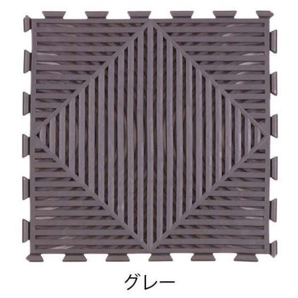 ミヅシマ工業 マット・モアレ 本体 300×300×12mm 1ケース(30ピース入) グレー #401-0660 グレー