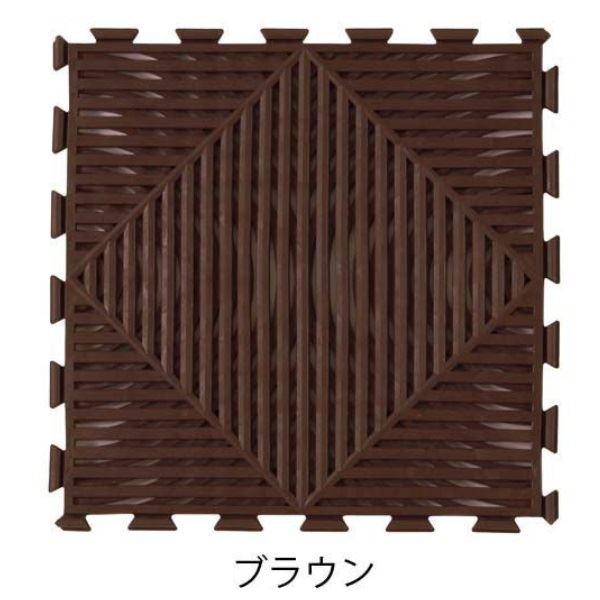 ミヅシマ工業 マット・モアレ 本体 300×300×12mm 1ケース(30ピース入) ブラウン #401-0670 ブラウン
