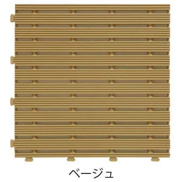 ミヅシマ工業 ジョイントラインマット 本体 295×295×13mm 1ケース(30ピース入) ベージュ #401-0600 ベージュ