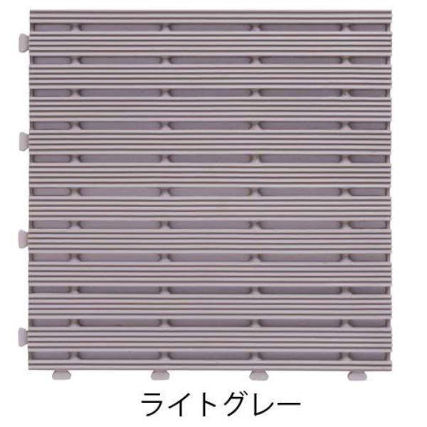 ミヅシマ工業 ジョイントラインマット 本体 295×295×13mm 1ケース(30ピース入) ライトグレー #401-0610 ライトグレー