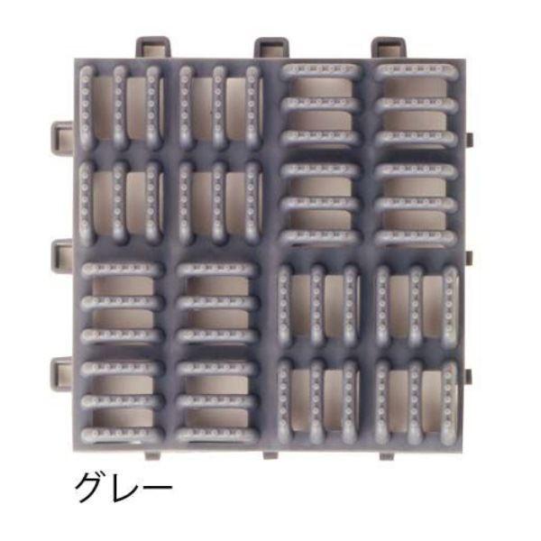 ミヅシマ工業 クロスラインマットエース 本体 150×150×30mm 1ケース(120ピース入) グレー #420-0310 グレー