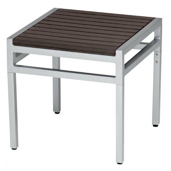 ニチエス MAIORI マイオリ サンレノサイドテーブル 45×45 / シルバー+ブラウン  シルバー+ブラウン