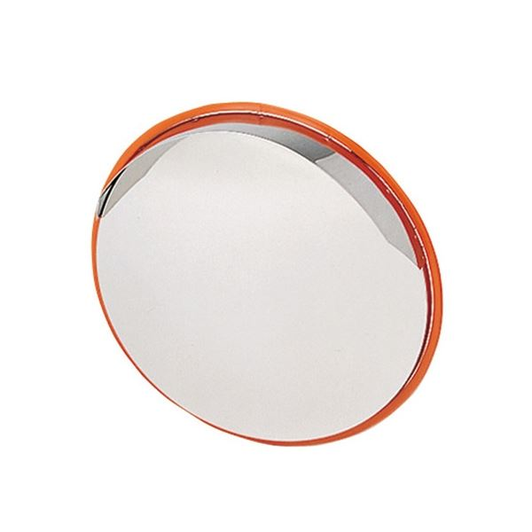信栄物産 ステンレスミラー 丸型 433φ  #S-4  オレンジ オレンジ