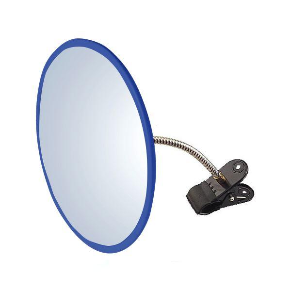 信栄物産 防犯ミラー室内用 クリップタイプ 丸型 310φ 枠:青  #H-30K-BL