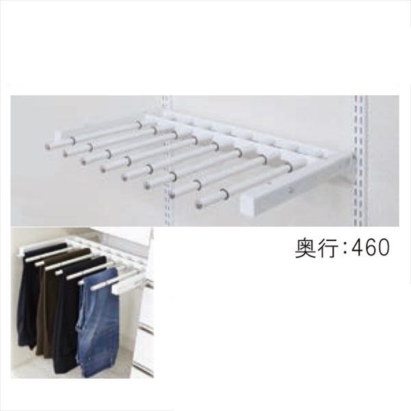 SHIMIZU ES-rack オプションパーツ スライドパンツラック SA-ESA10-600