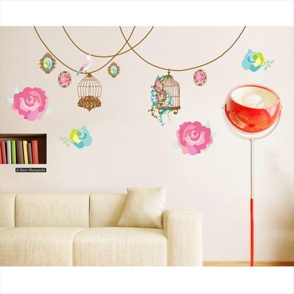 東京ステッカー 高級ウォールステッカー ホラグチ カヨ 「バラの花束B」 Lサイズ *TS0053-AL  『おしゃれ かわいい』 『壁 シール』