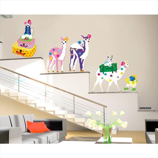 東京ステッカー 高級ウォールステッカー ホラグチ カヨ 「ディパーチャーデイズA」 Lサイズ *TS0054-AL  『おしゃれ かわいい』 『壁 シール』