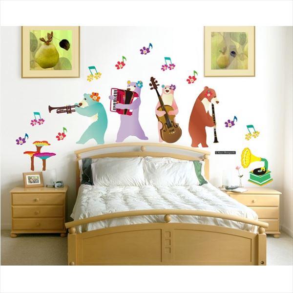 東京ステッカー 高級ウォールステッカー ホラグチ カヨ 「星の降る夜のコンサートA」 Sサイズ *TS0069-AM  『おしゃれ かわいい』 『壁 シール』