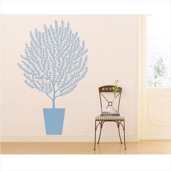 東京ステッカー 高級ウォールステッカー 植物 オリーブ Sサイズ *TS0001-BS ライトブルー 『おしゃれ かわいい』 『壁 シール』