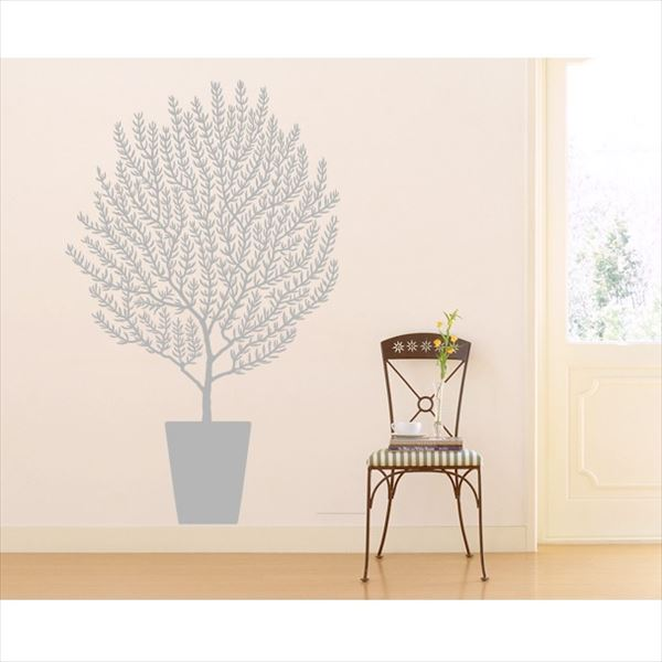 東京ステッカー 高級ウォールステッカー 植物 オリーブ Sサイズ *TS0001-ES グレー 『おしゃれ かわいい』 『壁 シール』