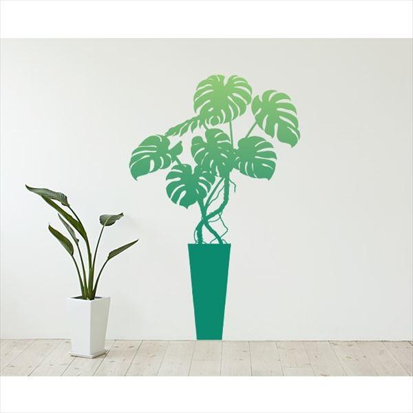 東京ステッカー 高級ウォールステッカー 植物 モンステラ Mサイズ *TS0003-AM グリーン 『おしゃれ かわいい』 『壁 シール』