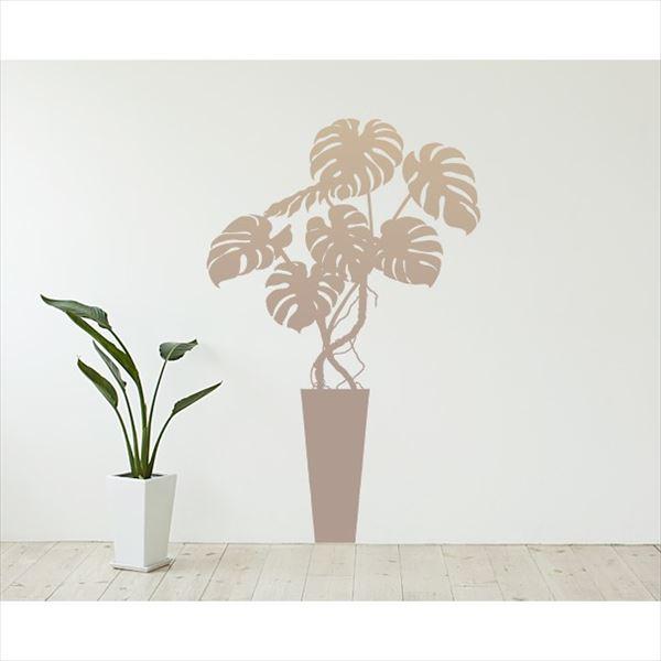 東京ステッカー 高級ウォールステッカー 植物 モンステラ Mサイズ *TS0003-DM ベージュ 『おしゃれ かわいい』 『壁 シール』