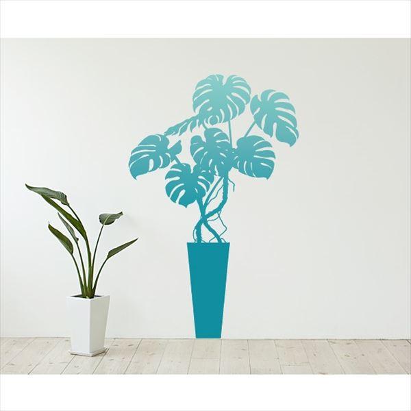 東京ステッカー 高級ウォールステッカー 植物 モンステラ Lサイズ *TS0003-BL ブルー 『おしゃれ かわいい』 『壁 シール』