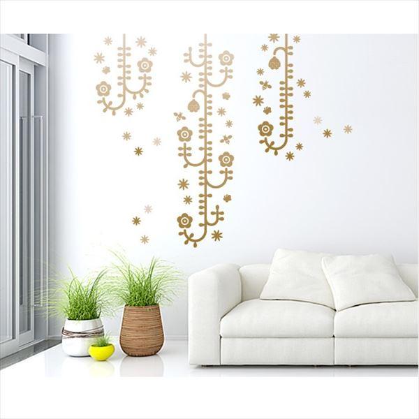 東京ステッカー 高級ウォールステッカー 植物 植物と昆虫たち Lサイズ *TS0006-FL チャコールグラデーション 『おしゃれ かわいい』 『壁 シール』