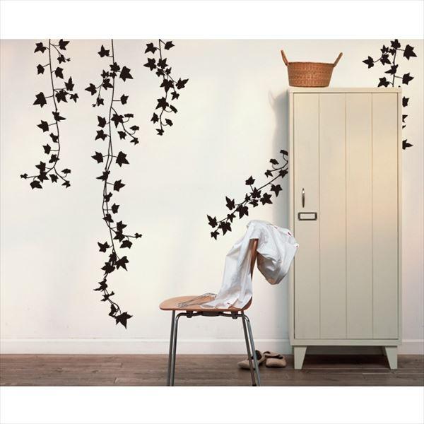 東京ステッカー 高級ウォールステッカー 植物 アイビー Lサイズ *TS0009-AL ブラック 『おしゃれ かわいい』 『壁 シール』
