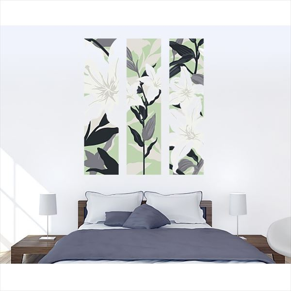 東京ステッカー 高級ウォールステッカー 植物 カサブランカ Lサイズ *TS0011-DL グリーン 『おしゃれ かわいい』 『壁 シール』