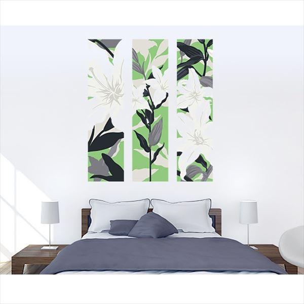 東京ステッカー 高級ウォールステッカー 植物 カサブランカ Lサイズ *TS0011-HL エメラルド 『おしゃれ かわいい』 『壁 シール』