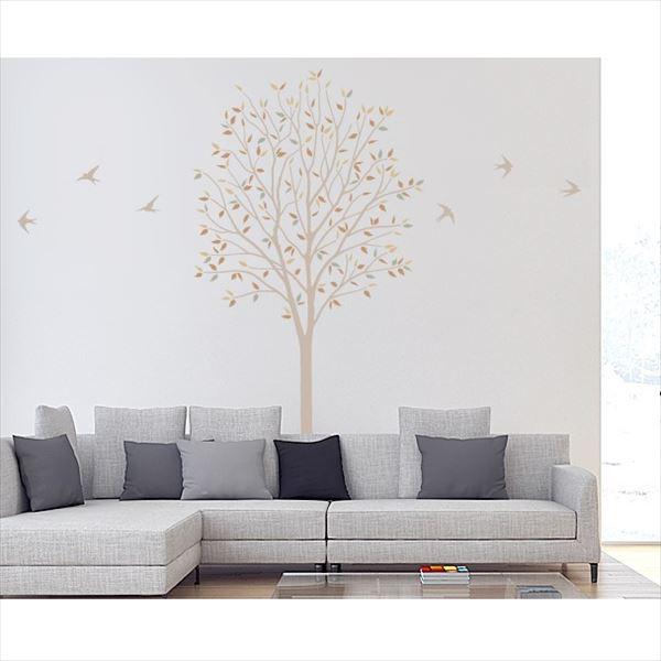 東京ステッカー 高級ウォールステッカー 植物 木とツバメ Lサイズ *TS0027-EL ベージュ 『おしゃれ かわいい』 『壁 シール』