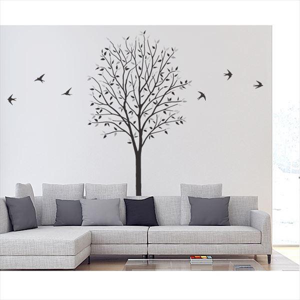 東京ステッカー 高級ウォールステッカー 植物 木とツバメ Lサイズ *TS0027-FL モノトーン 『おしゃれ かわいい』 『壁 シール』