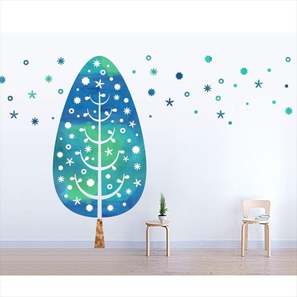 東京ステッカー 高級ウォールステッカー 植物 ツリー・デコレーション Mサイズ *TS0014-CM ブルー 『おしゃれ かわいい』 『壁 シール』