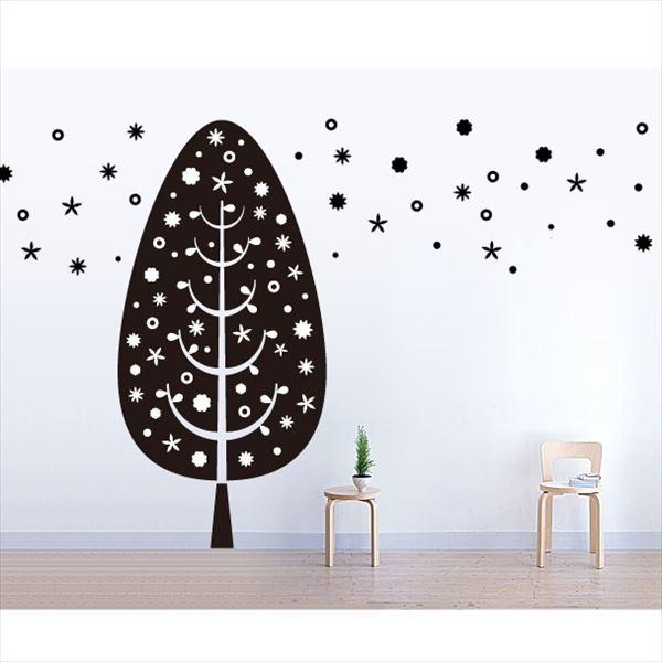 東京ステッカー 高級ウォールステッカー 植物 ツリー・デコレーション Lサイズ *TS0014-FL ブラック 『おしゃれ かわいい』 『壁 シール』