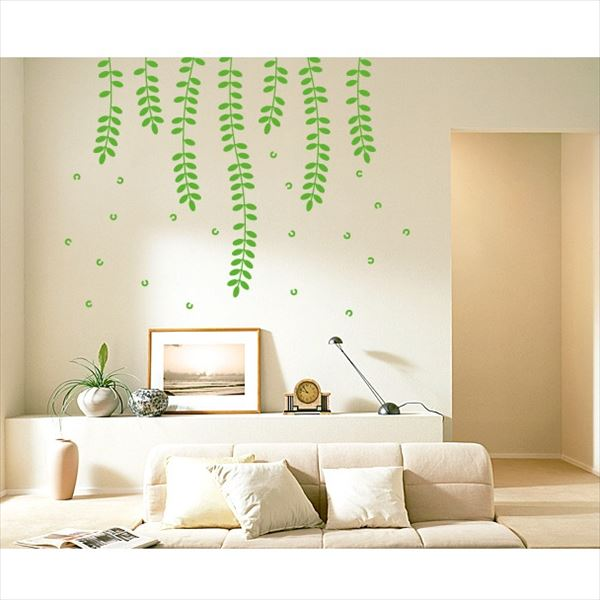 東京ステッカー 高級ウォールステッカー 植物 ハリエンジュ Lサイズ *TS0018-BL イエローグリーン 『おしゃれ かわいい』 『壁 シール』