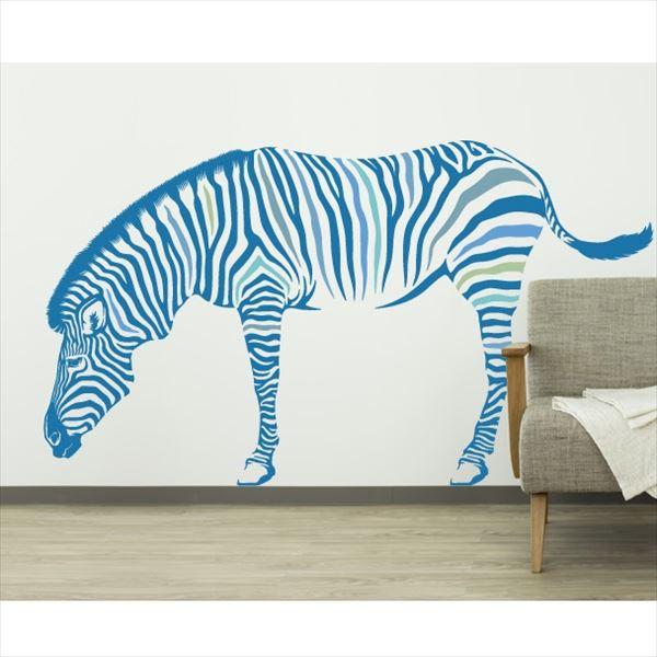 東京ステッカー 高級ウォールステッカー 動物 シマウマ Sサイズ *TS0012-CS ブルー 『おしゃれ かわいい』 『壁 シール』