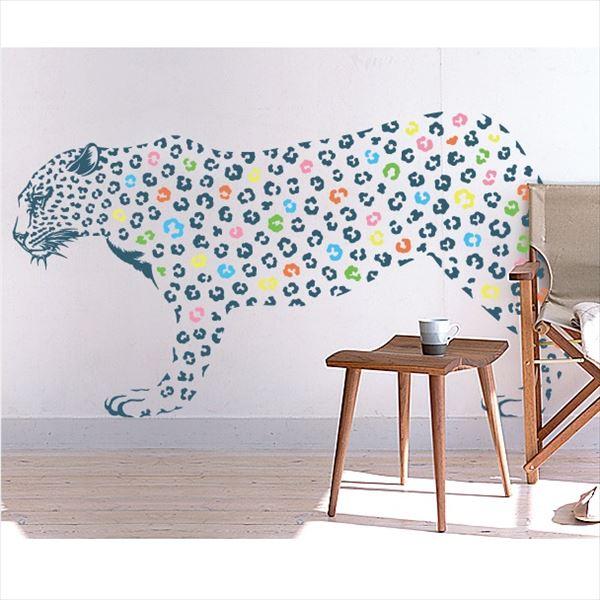 東京ステッカー 高級ウォールステッカー 動物 ヒョウ Lサイズ *TS0019-AL ネイビー 『おしゃれ かわいい』 『壁 シール』