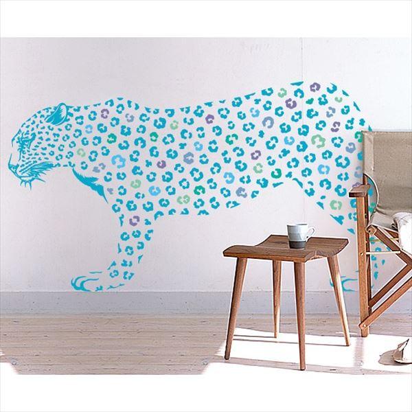 東京ステッカー 高級ウォールステッカー 動物 ヒョウ Lサイズ *TS0019-BL ライトブルー 『おしゃれ かわいい』 『壁 シール』