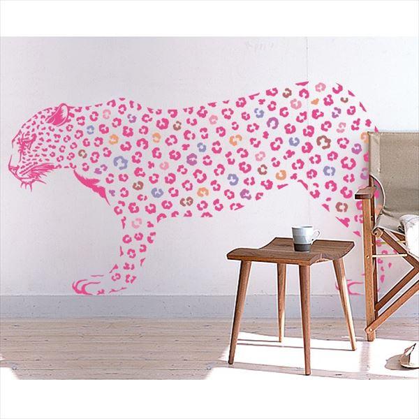 東京ステッカー 高級ウォールステッカー 動物 ヒョウ Lサイズ *TS0019-CL ピンク 『おしゃれ かわいい』 『壁 シール』