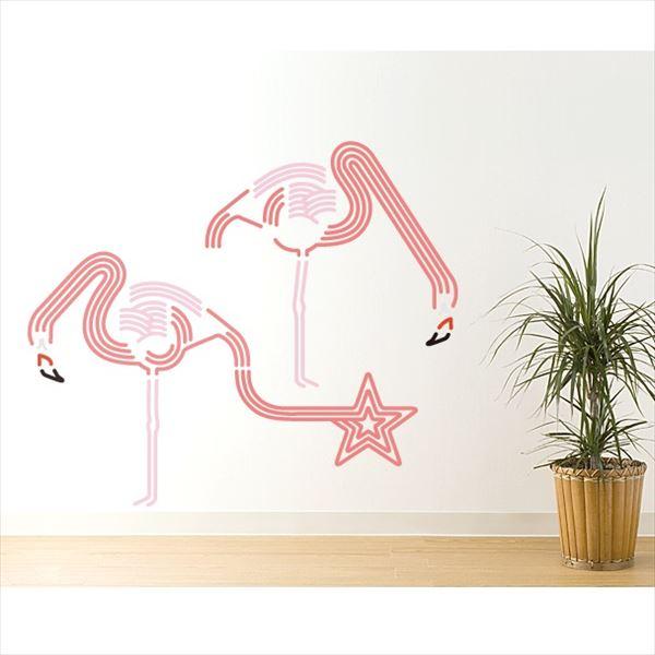 東京ステッカー 高級ウォールステッカー 動物 フラミンゴ ドリンク Lサイズ *TS0046-AL ピンク 『おしゃれ かわいい』 『壁 シール』