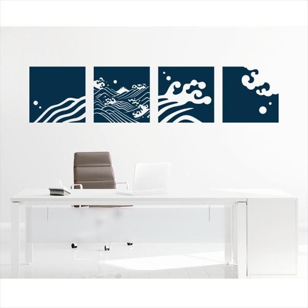 東京ステッカー 高級ウォールステッカー 和風 荒波に富士 Mサイズ *TS0030-AM 濃藍 『おしゃれ かわいい』 『壁 シール』