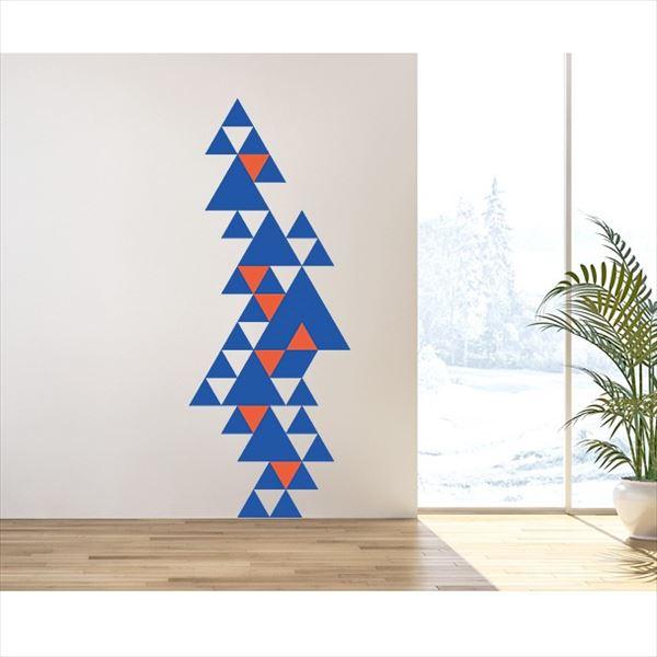 東京ステッカー 高級ウォールステッカー グラフィックアート トライアングル Lサイズ *TS0015-BL ブルー 『おしゃれ かわいい』 『壁 シール』