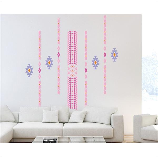 東京ステッカー 高級ウォールステッカー グラフィックアート トライバル Lサイズ *TS0016-DL ピンク 『おしゃれ かわいい』 『壁 シール』